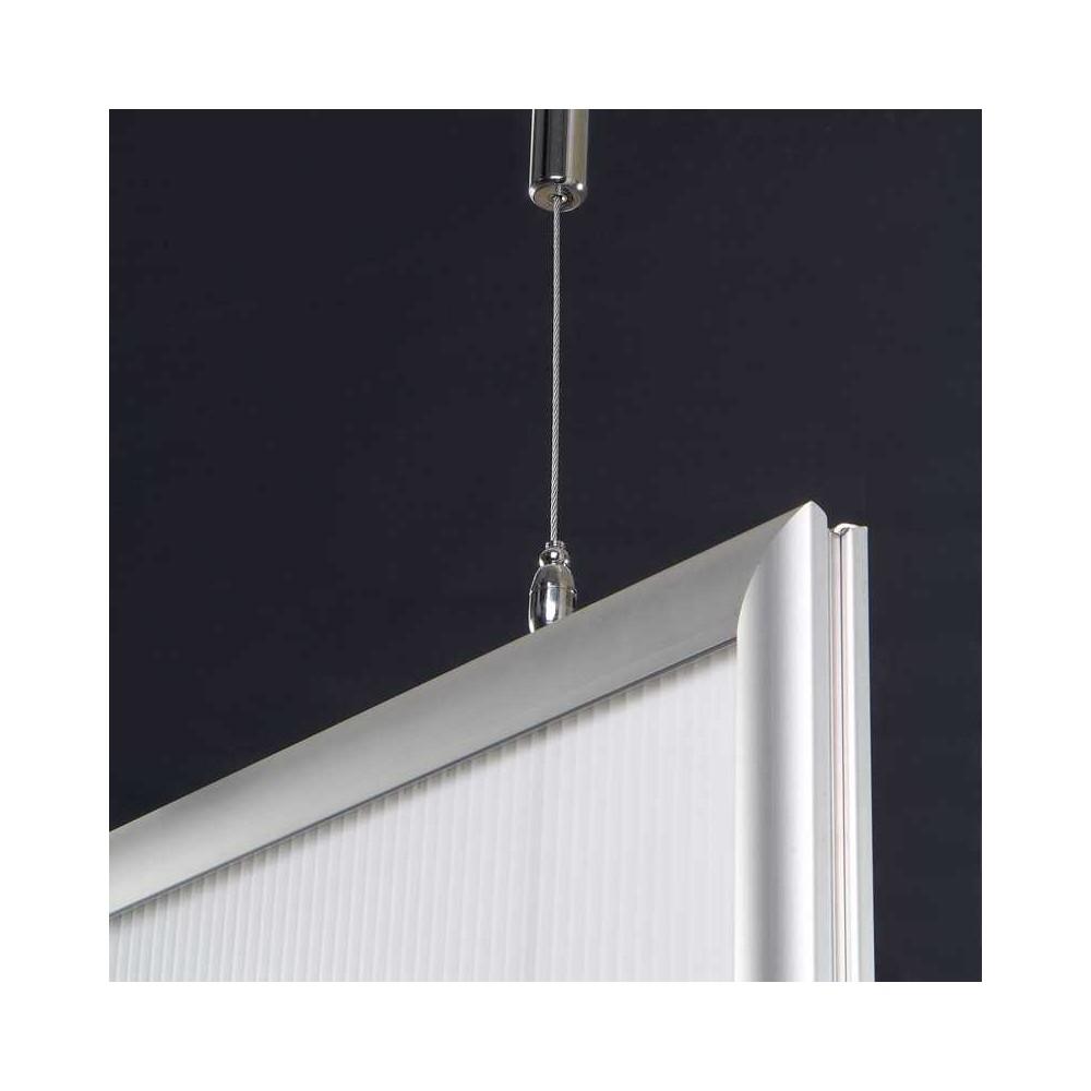 Plakatramme tosidig, er flott å henge i fra tak for å kunne vise buskapet i fra to sider