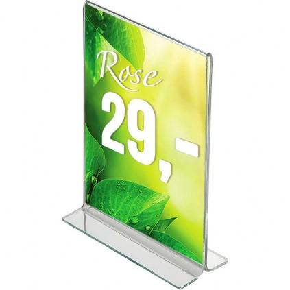 Menyholder i Plexiglass med T-fot