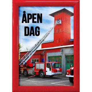 Rød Plakatramme