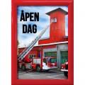 Plakatramme rød