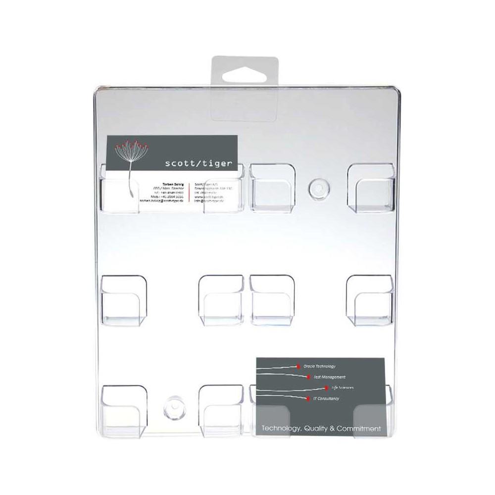 Visittkortholder til vegg med 6 plasser til kort