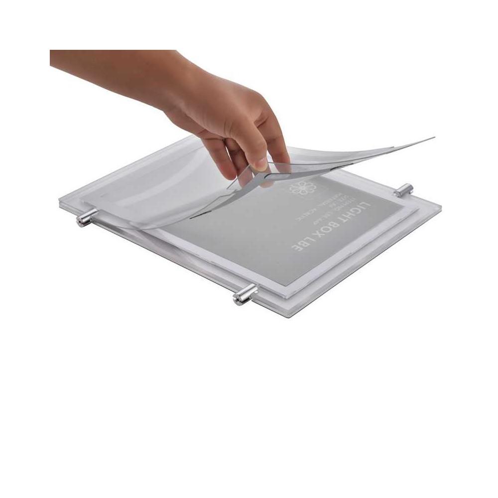 Plexi plakatholder med led-lys enkelt å skifte plakat
