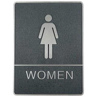 Toalett skilt med blindeskrift, Dame