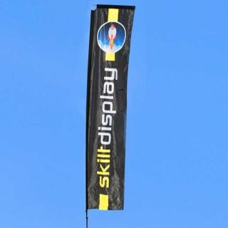 Beachflagg Rektangel med trykk på to sider