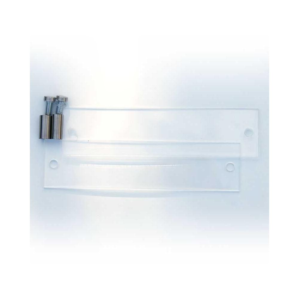 Dørskilt i akryl, format 5x20 cm i deler