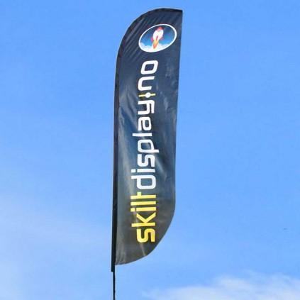 Beachflagg bestselger i bruk