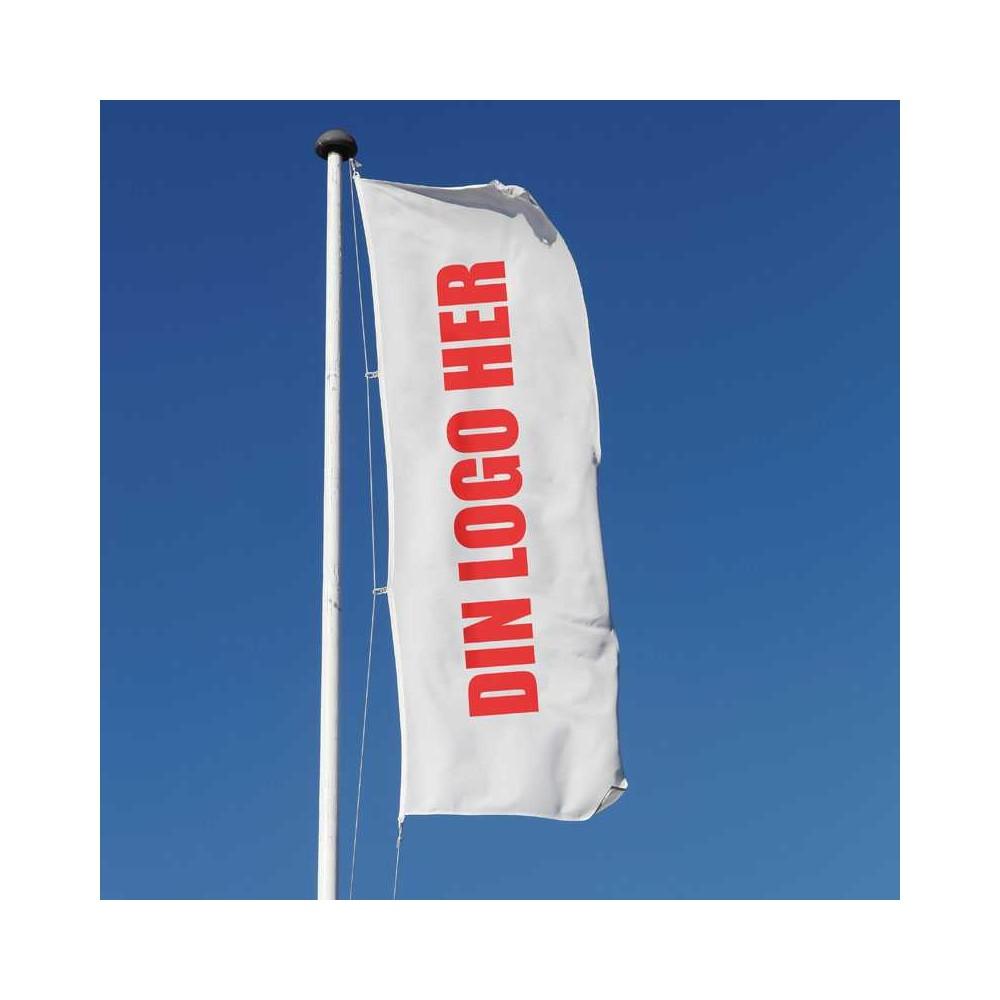 Flagg med logo kan du få i det formatet du ønsker