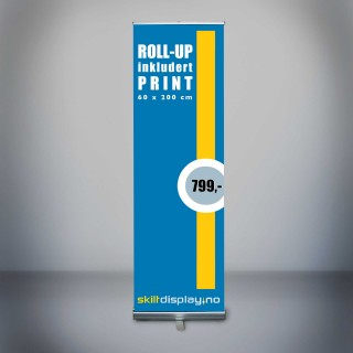 Billig 60 cm Rollup inkl. trykk