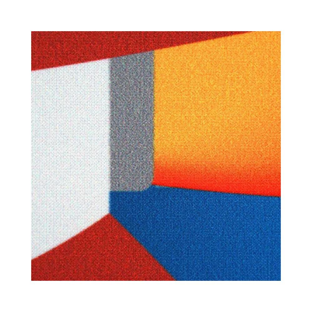Tekstilduk til ramme, nærbilde av stoff-trykk i super kvalitet