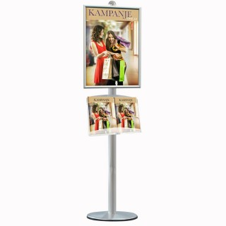 Reklamestativ med Brosjyreholder og plakatholder