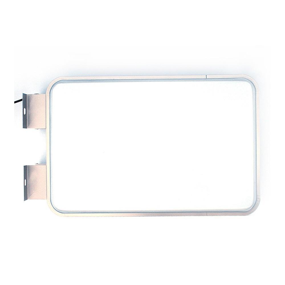 Led lysboks, her viser den uten påmontert print