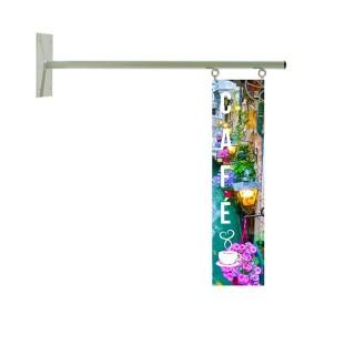 Oppheng for skilt / banner til innendørs bruk
