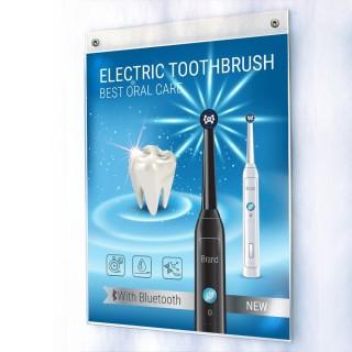 Plakatholder plexiglass til vegg eller tak - 10 pakke
