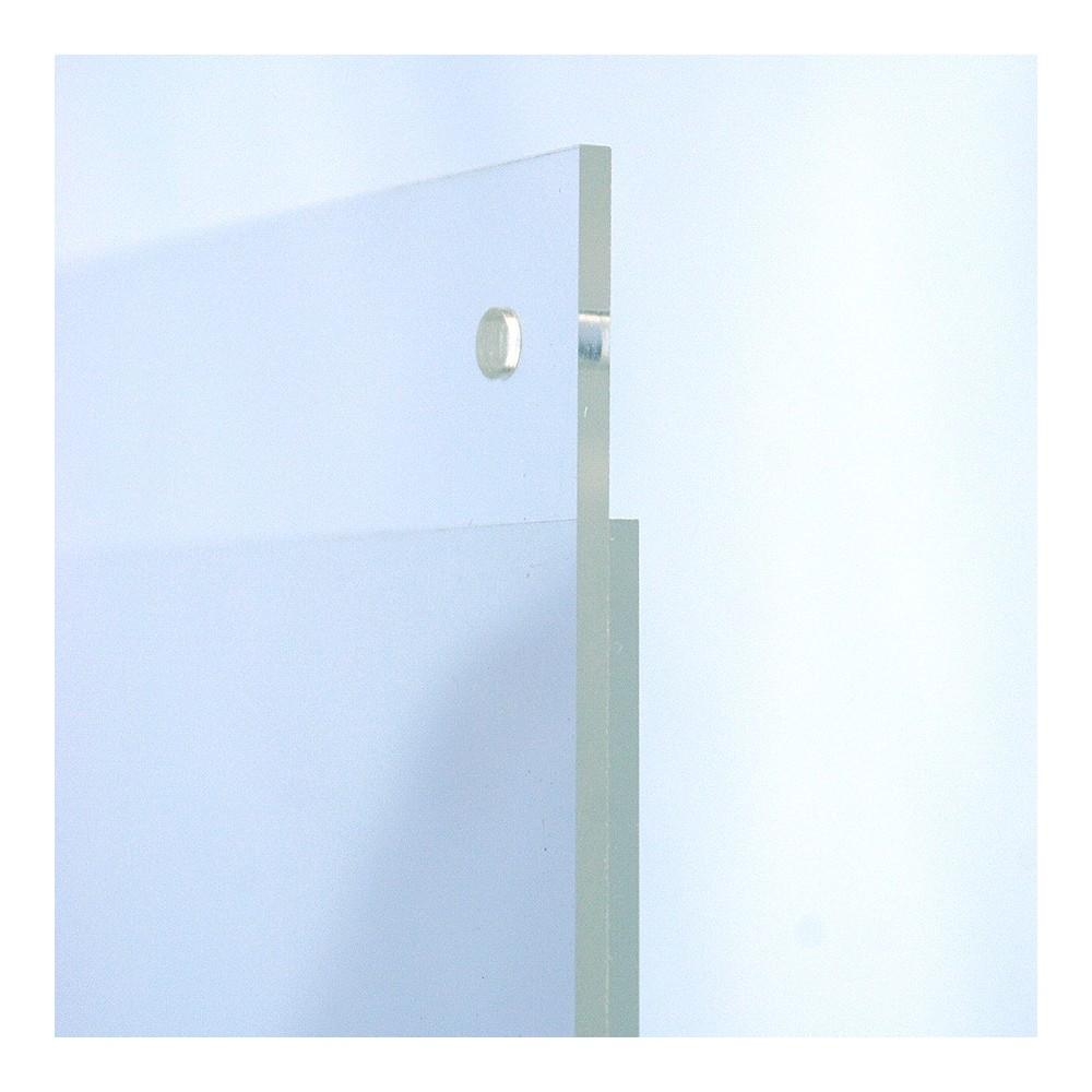 Plakat lomme plexi, kommer med hull til enkelt oppheng