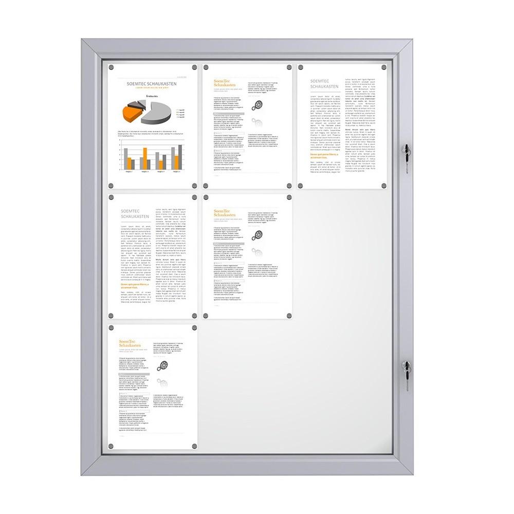 Låsbar oppslagstavle for utebruk med plass til 9 A4 ark