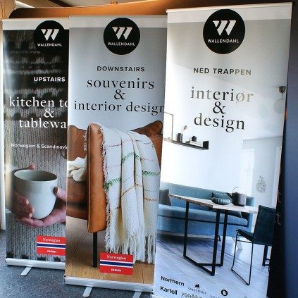 Billig 80 cm roll-up trykket for Wallendahl
