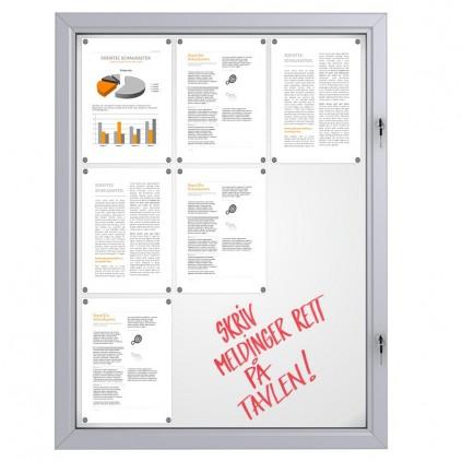 Låsbar oppslagstavle for utendørs bruk - 9 x A4
