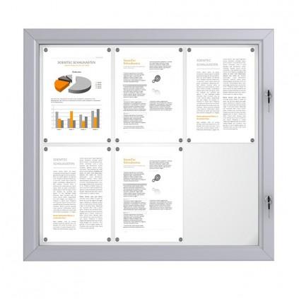 Solid Låsbar oppslagstavle for utendørs bruk - 6 x A4