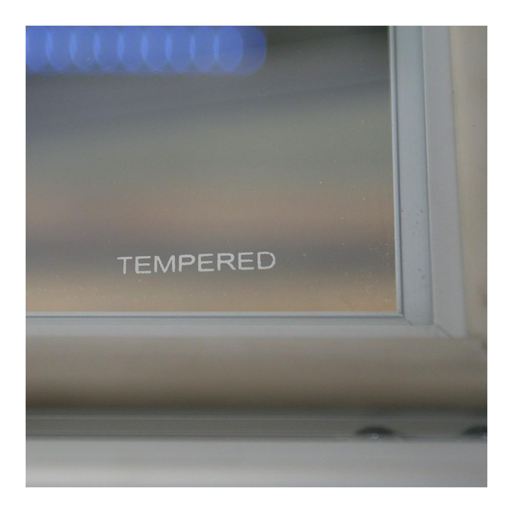 Solid Låsbar oppslagstavle for utendørs bruk har herdet glass