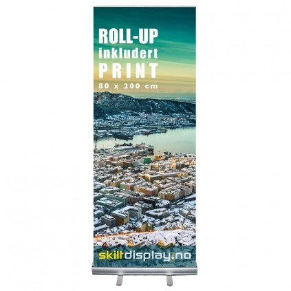 Billig 80 cm Roll up inkl. trykk