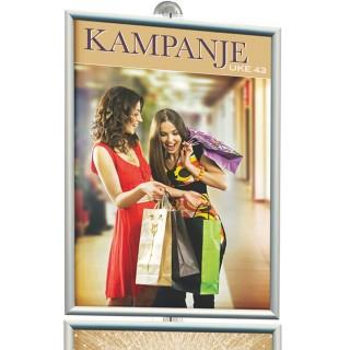 Plakatramme til reklamestativ