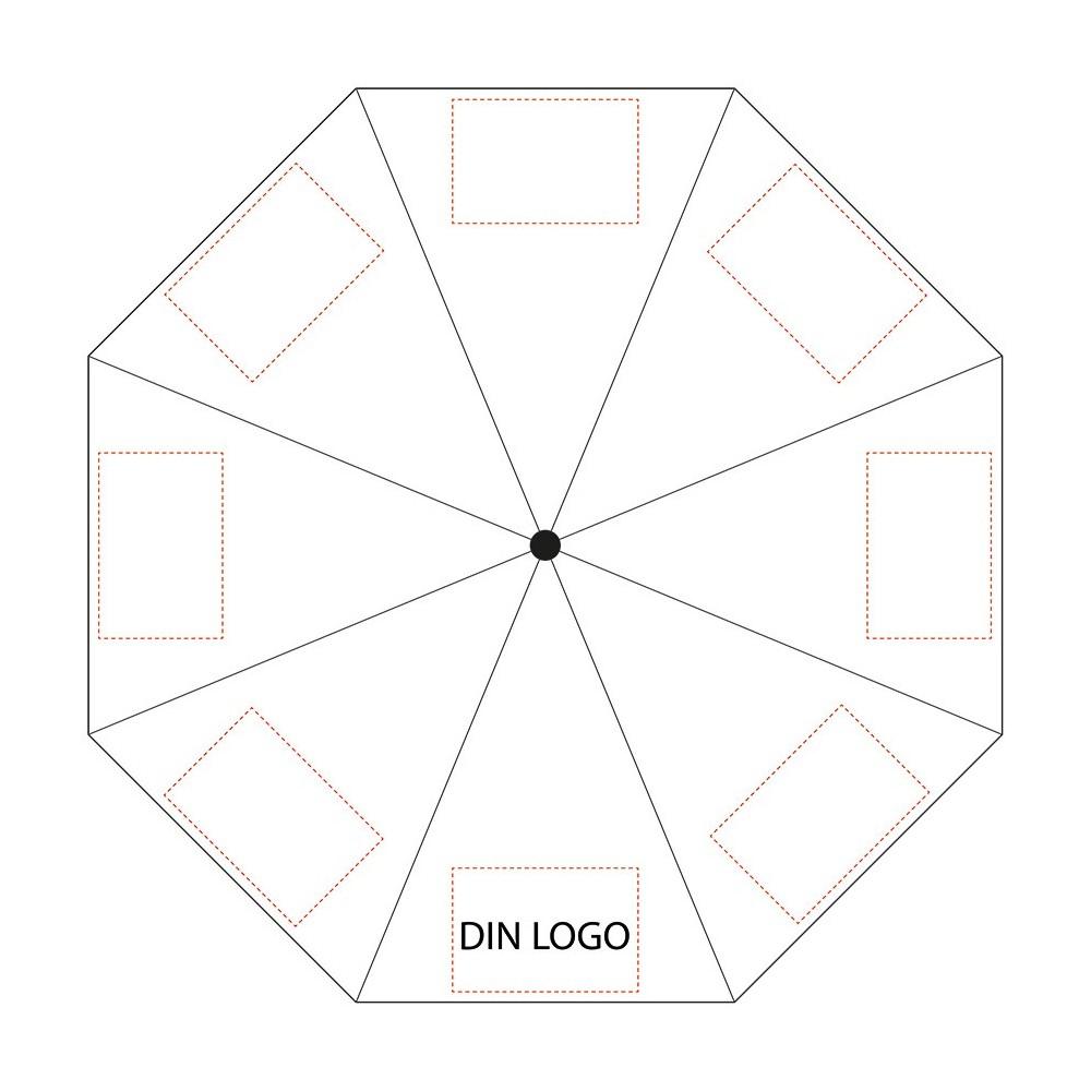 Paraply - hvor kan logo plasseres