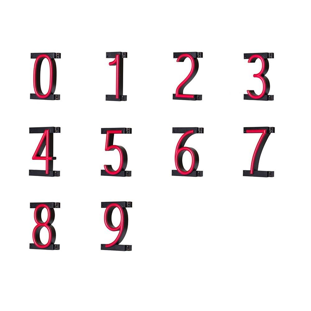 Ledlys bokstaver med neon effekt - tall 0-9