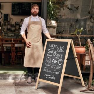 Gatebukk med magnetisk tavle er super til bruk i cafeer og resturanter