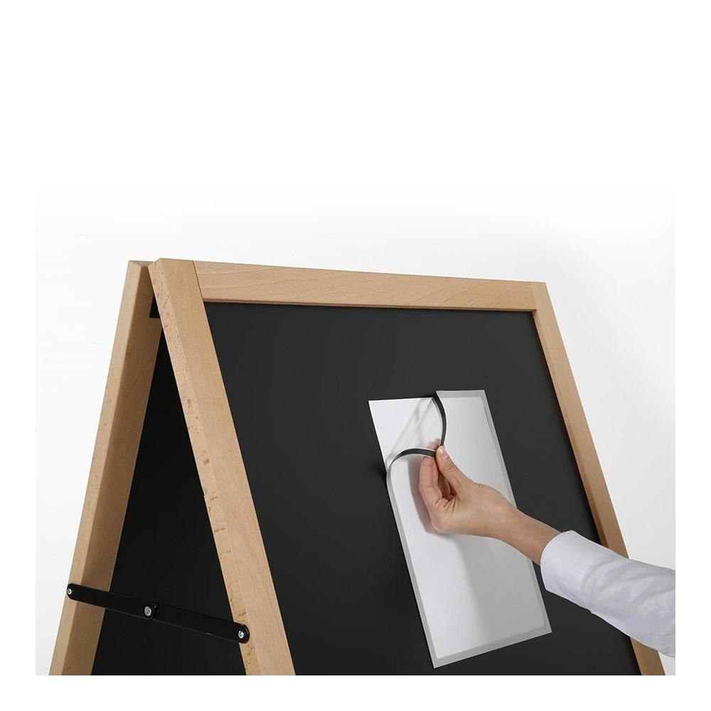 Gatebukk med magnetisk tavle - skift enkelt innhold