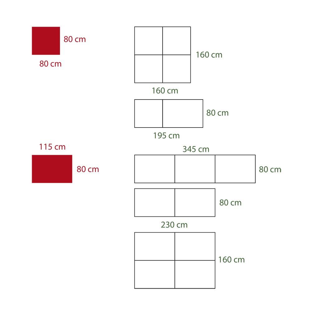 Fasadeskiltene kan kombineres til større skilt på utallige måter.