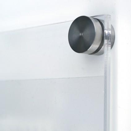 Avstandsstykke 5 mm i bruk med pyntehette på dørskilt