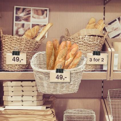 Bruk papirklemmen til å vise pris på mindre varer.