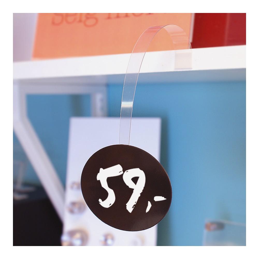 Ovalt skrivbart tavlekort perfekt til bruk med vår vippetass.