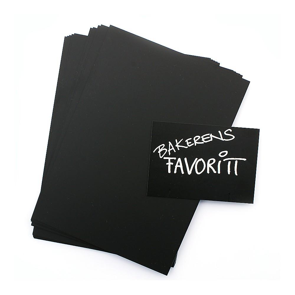 Sorte tavlekort selges i 10 pakke og finnes i mange størrelser.