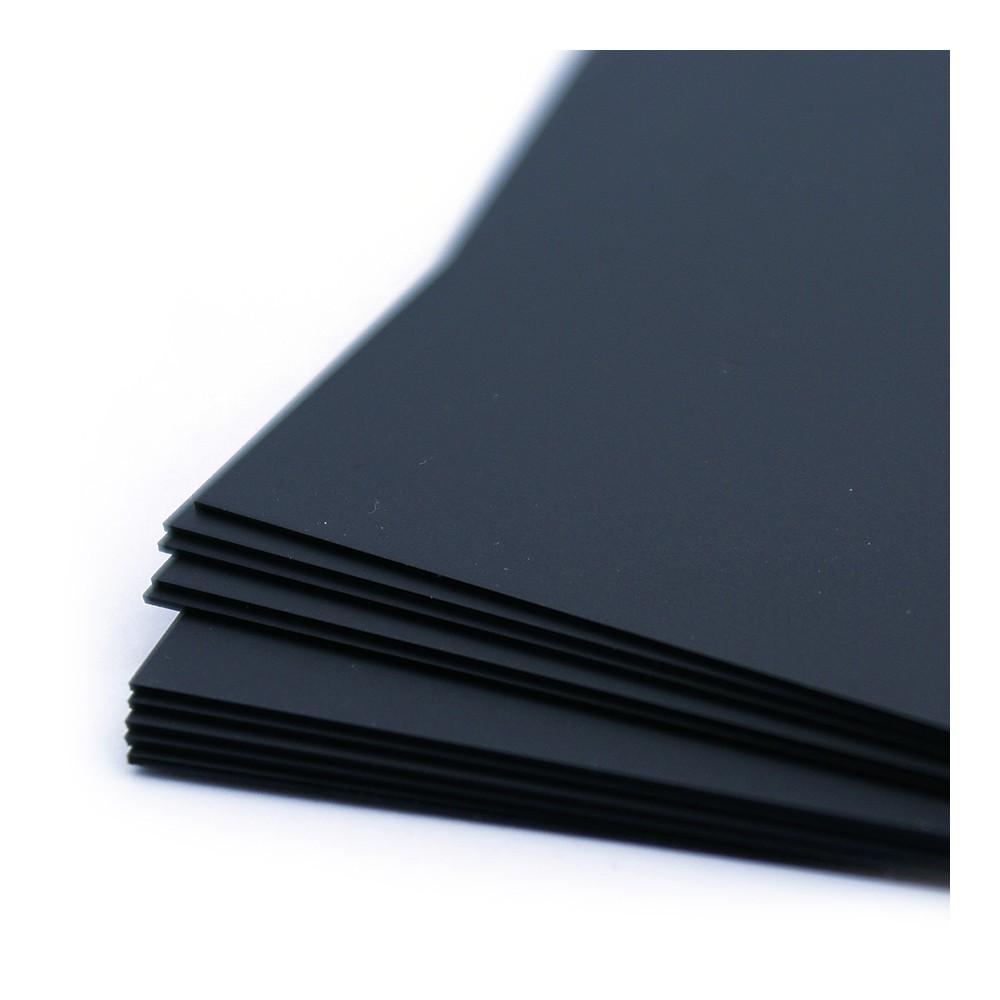Sorte tavle kort kan skrives på med hvit eller farget tavletusj.