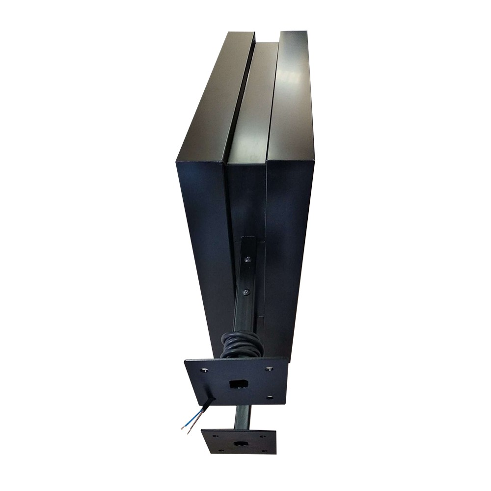 Tosidig Led-lyskilt har gode solide veggfester.
