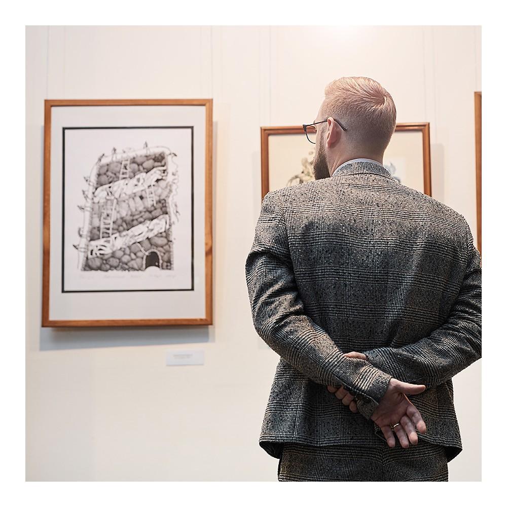 Etikettholderen er perfekt til merking på f.eks gallerier.
