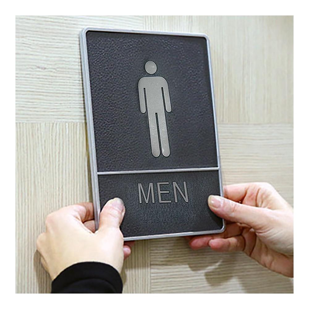 Toalett skilt med blindeskrift, Herre
