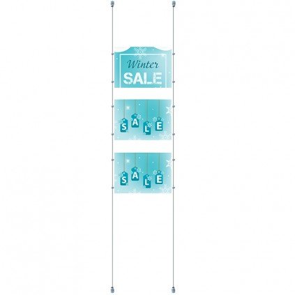 3 stk plexi rammer med wire oppheng