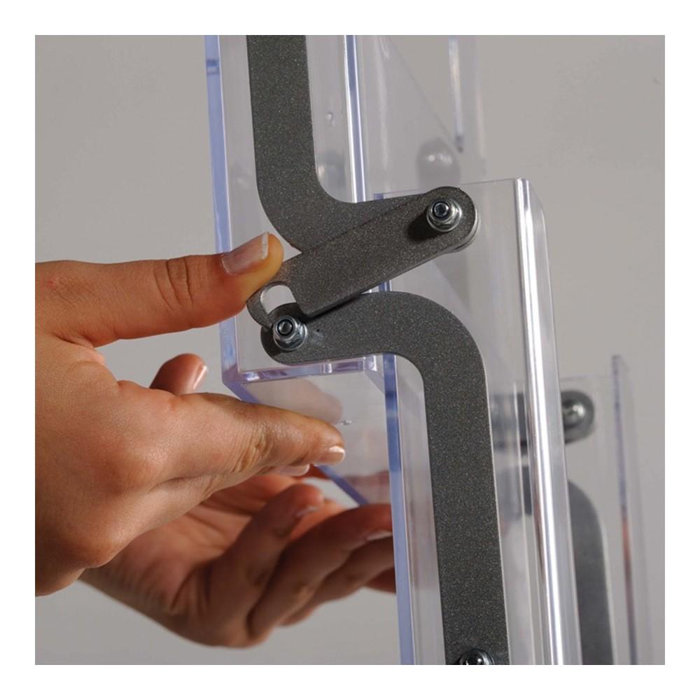 Transportabelt brosjyrestativ akryl er enkelt å sette opp