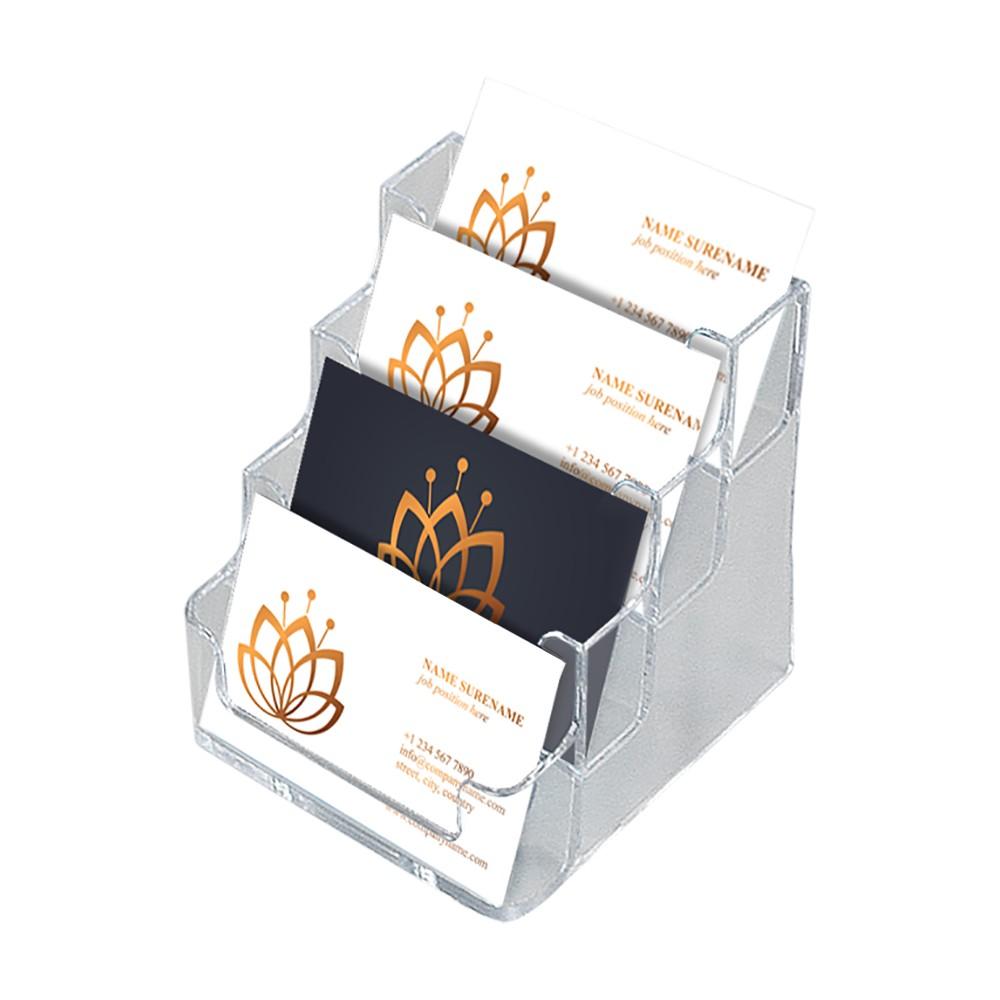 Visittkortholder med 4 lommer