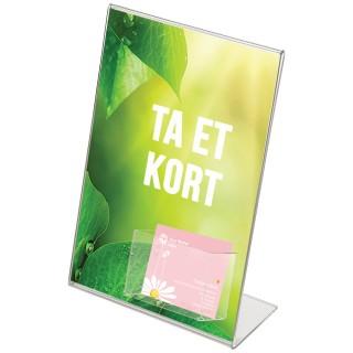 Plakatholder med visittkort