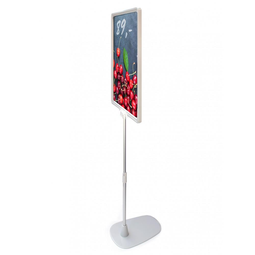 Stangen på billig plakatstativ kan justeres i høyde.