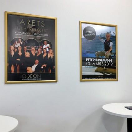 Plakatramme i gull