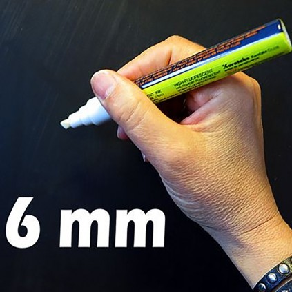 Tavle penn hvit 6mm