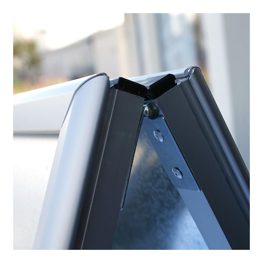 Billig gatebukk aluminium, detaljbilde av ramme