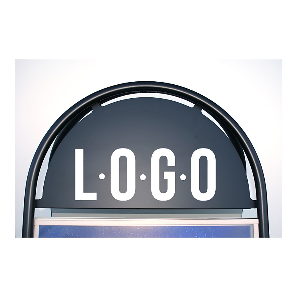 Plasser logoen din på gatebukk med buet topp