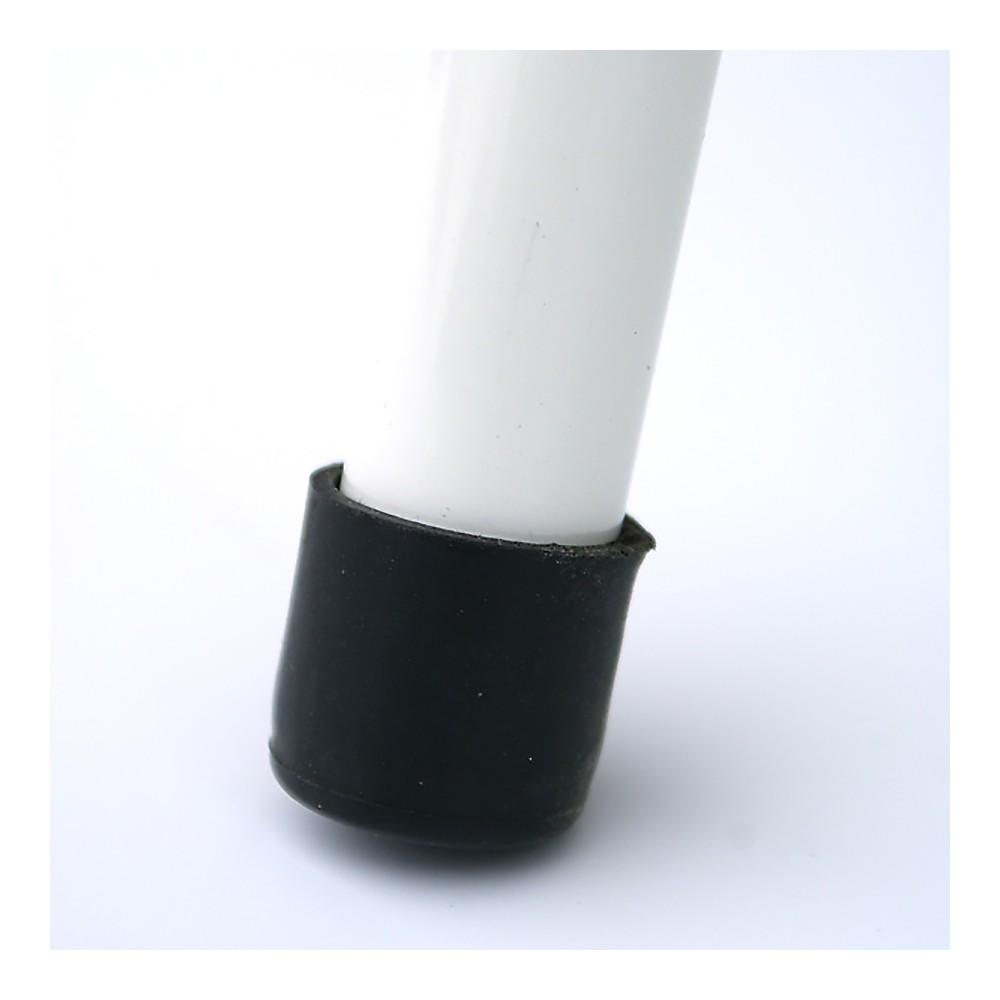 Visningskilt med plastfront har gummiknotter på ben
