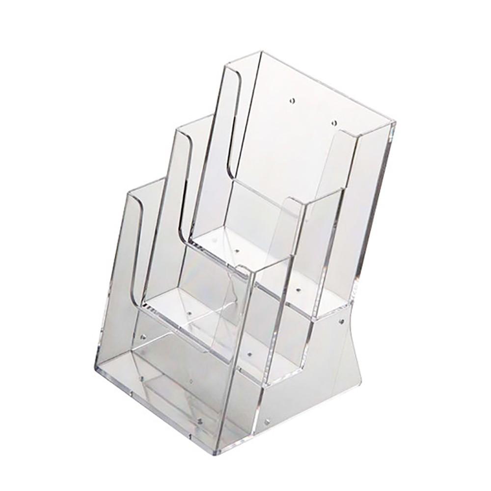 Trippel Brosjyreholder i plexiglass