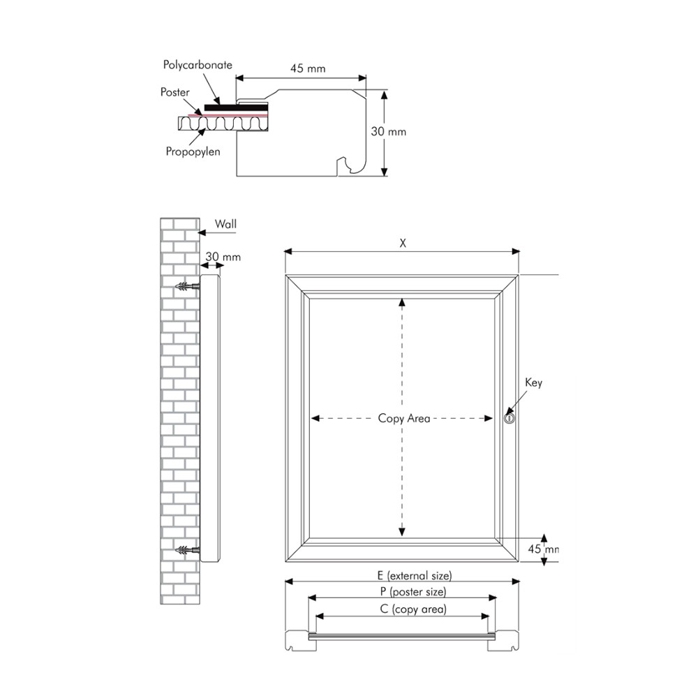 Teknisk info om posterboks